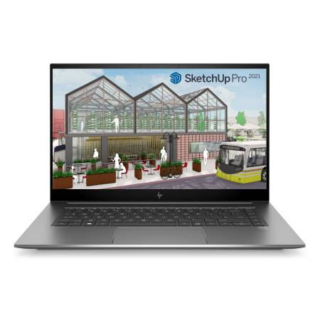 AutoCAD en SketchUp Pro laptop, HP Zbook studio 15 G7