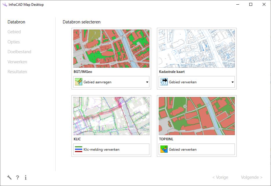 Databronnen in InfraCAD Map Desktop