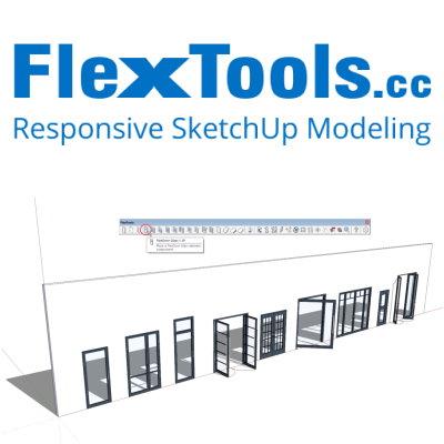 Flextools voor Sketchup. Deuren en ramen